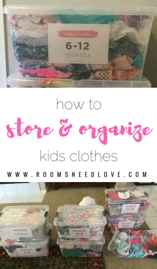 How to Organize & Store Kids Clothes | Kids organization | Kids closets | Closet organizing | Rooms Need Love
