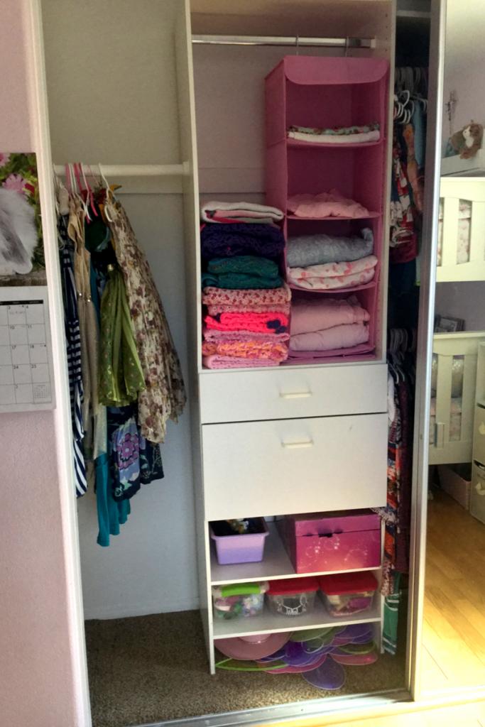 Before & After: Girls Closet Revamp