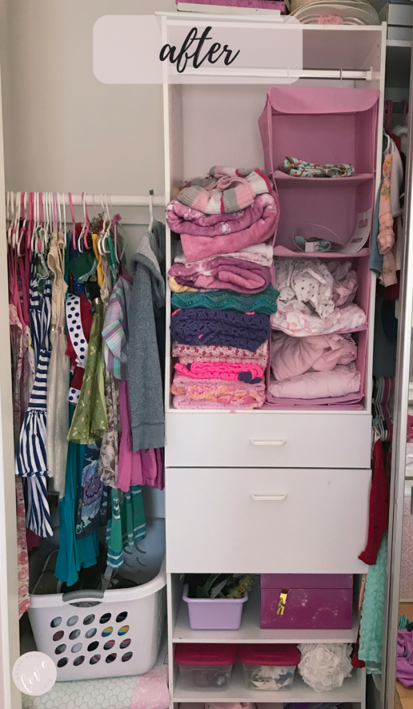 Girls Closet Makeover - After 2 - Rooms Need Love