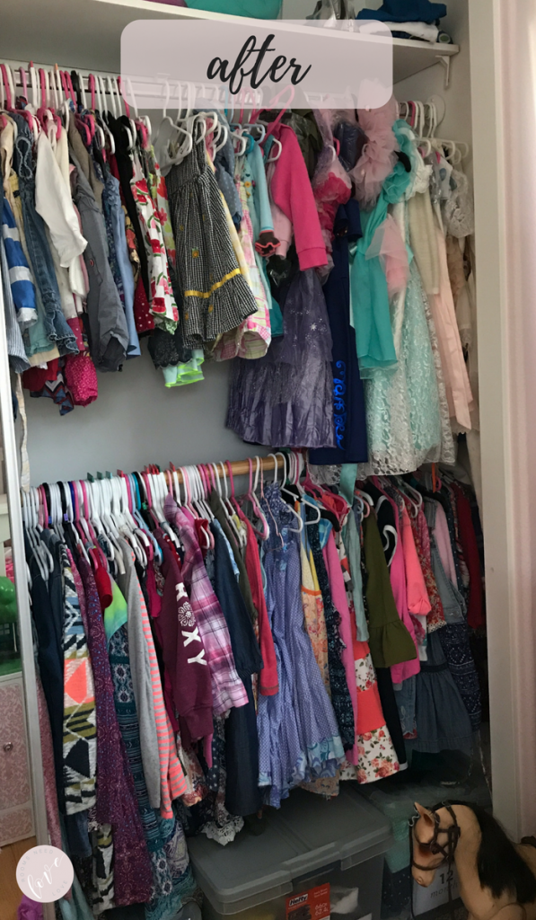 Girls Closet Makeover - After - Rooms Need Love