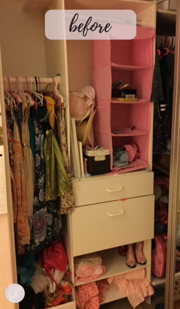 Girls Closet Makeover - Before 2 - Rooms Need Love