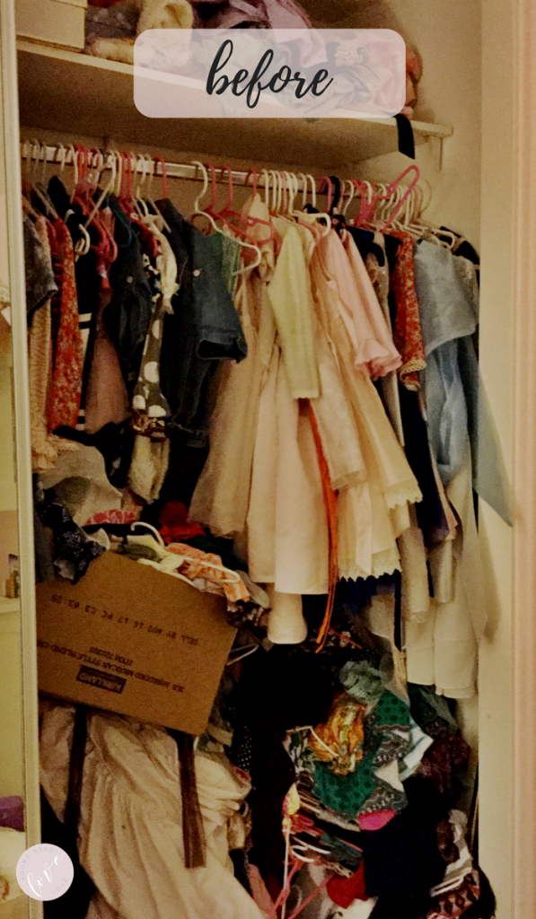 Girls Closet Makeover - Before - Rooms Need Love