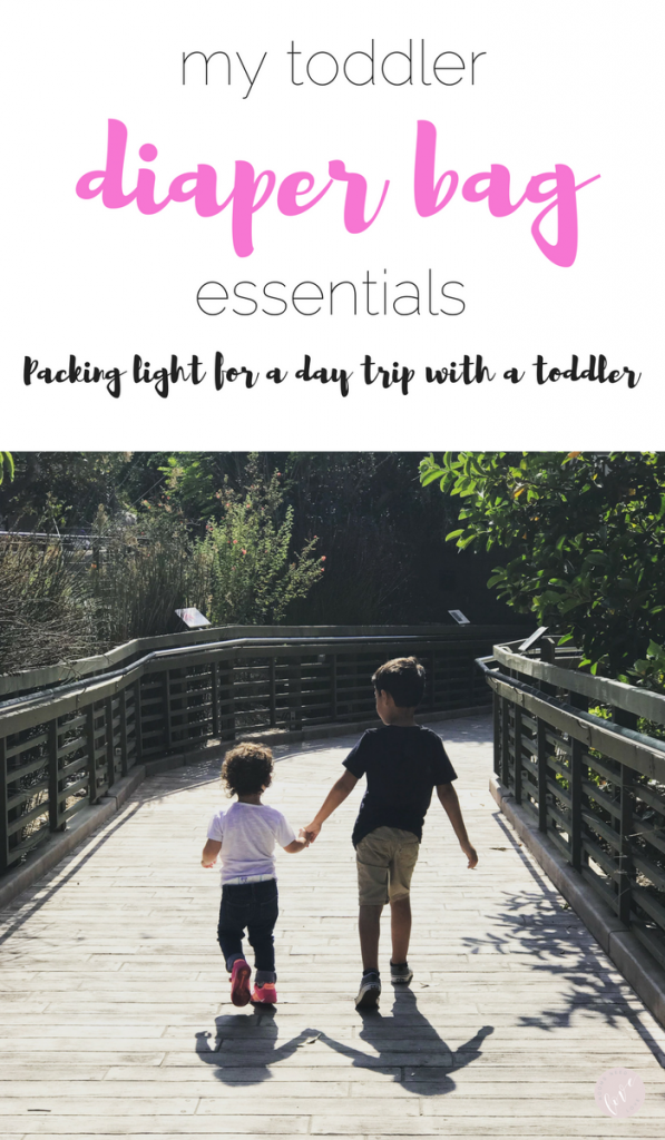 Packing Light for a Toddler Day Trip - My Toddler Diaper Bag Essentials | Rooms Need Love Blog