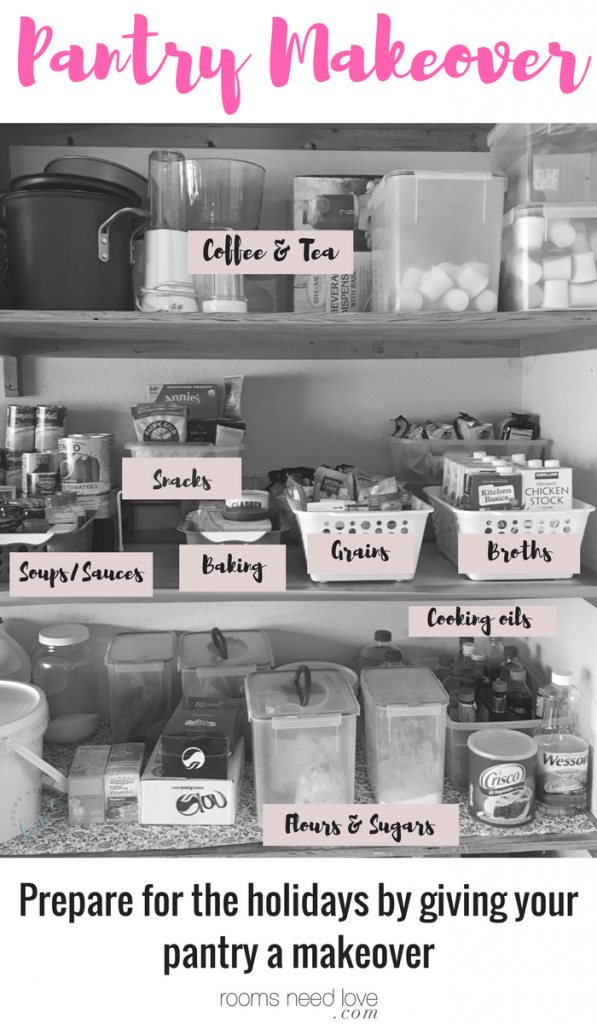 Give Your Pantry a Makeover for the Holidays: Organizing | Organizing Tips | Pantry Organizing | Organizing on a Budget | Rooms Need Love