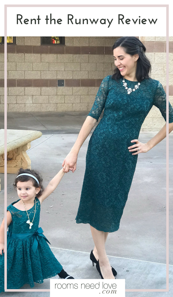 Rent the Runway Review | Family Photos | Family Photo Outfits | Lace Dress | Mommy and Me Outfits | Rent the Runway | Holiday Outfits | Wedding Guest Outfits | Rooms Need Love