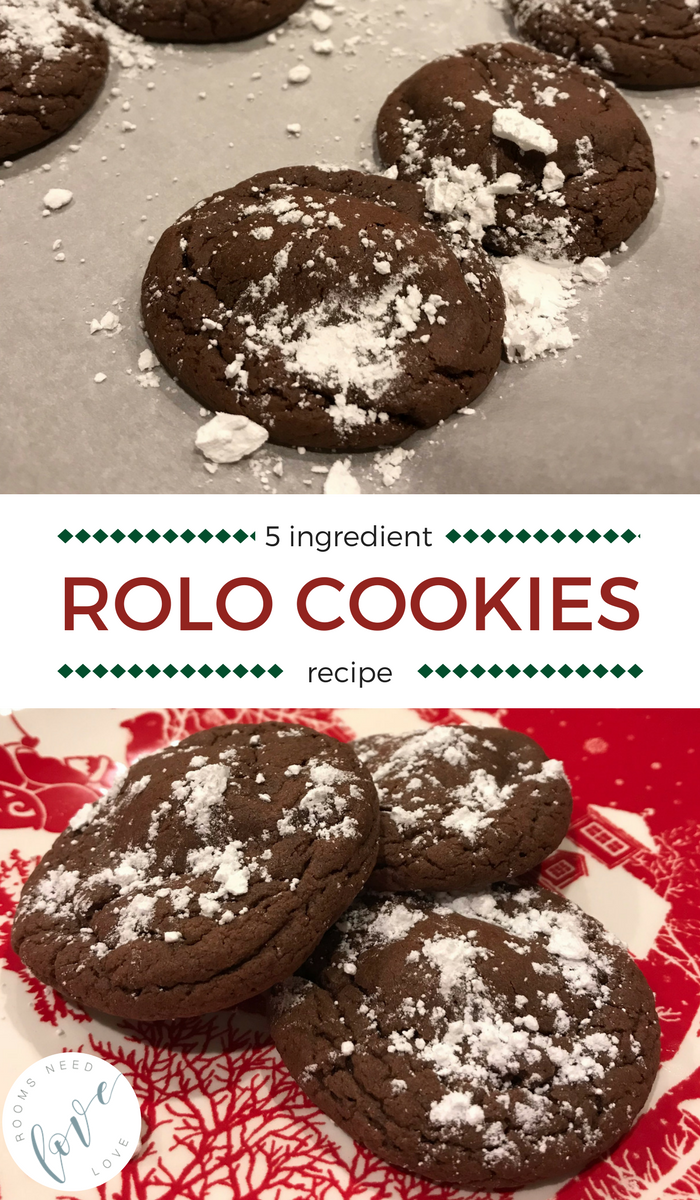 Rolo Cookies Recipe | easy recipes | easy cookies | treats | party food | dessert | easy dessert | Rooms Need Love
