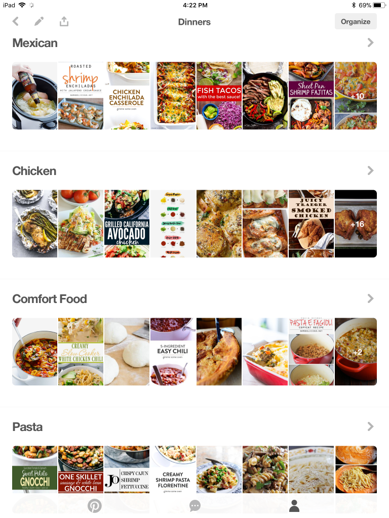 How to Organize Your Pinterest Boards for Meal Planning | Meal planning made easy | Easy meal planning | Simple meal planning | Rooms Need Love